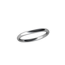 Allure Matching Band 14kt White 2
