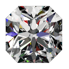 One ct Square J SI-1 Passion Fire Diamond, loose