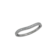 Infinity Milgrain Band - Curved - White 2